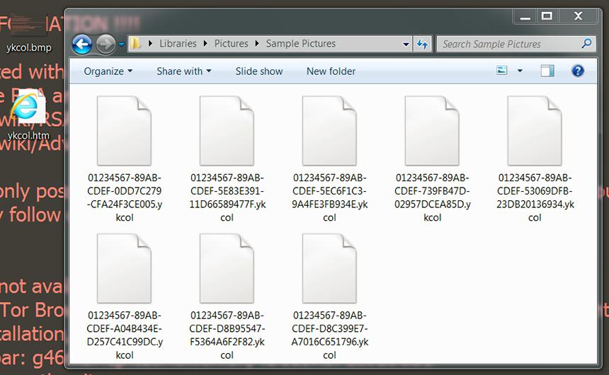 Ykcol / Locky ransomware modifica los datos más allá de la recuperación regular