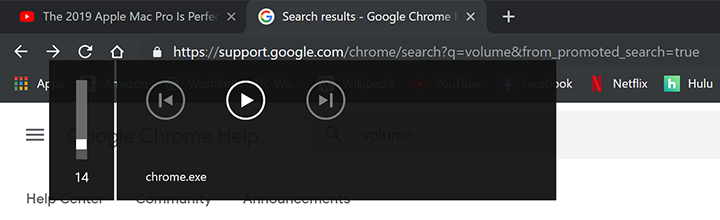 Volumen de chrome.exe en Google Chrome
