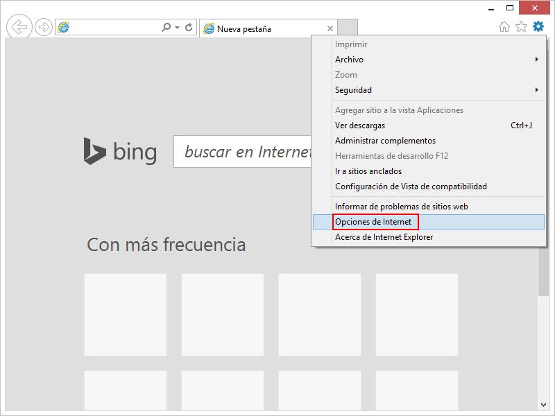 Restablecer Internet Explorer 1