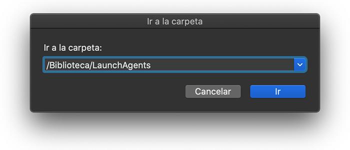 Ir /Biblioteca/LaunchAgents/