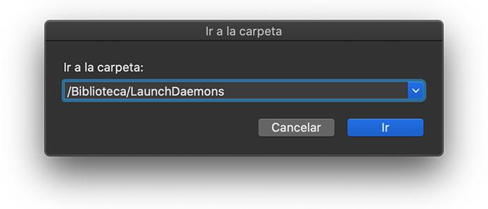 Ir /Biblioteca/LaunchDaemons