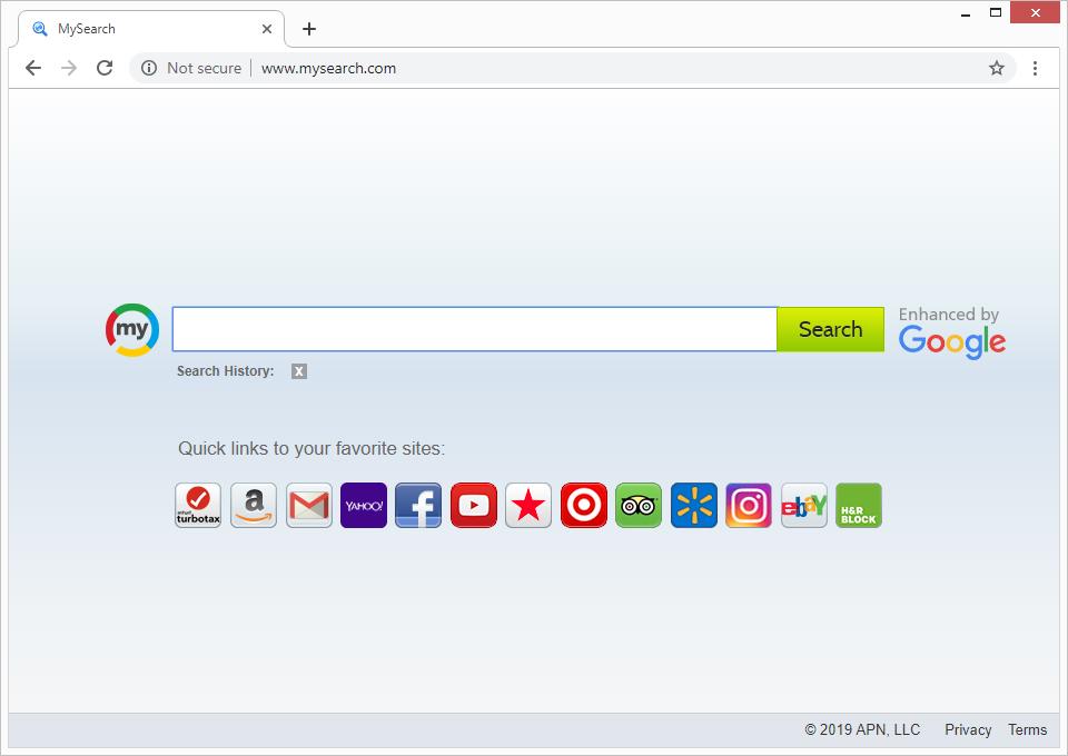 El virus Mysearch causa redirecciones en el navegador una y otra vez