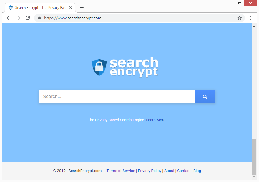 Página de Inicio de Search Encrypt
