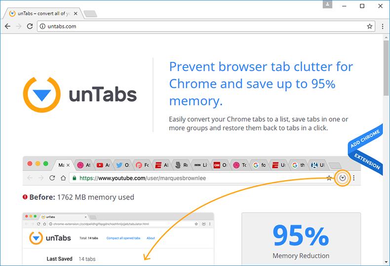 Página web oficial de unTabs